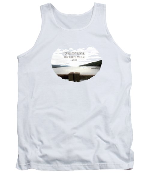When I Cannot Speak - Verse Tank Top