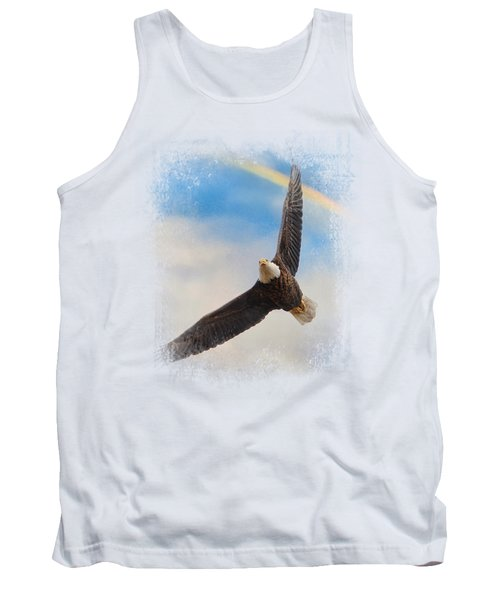 When My Wings Touch The Rainbow Tank Top by Jai Johnson
