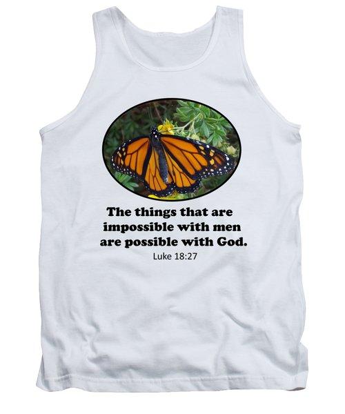 When The Rain Clears Monarch Butterfly Tank Top
