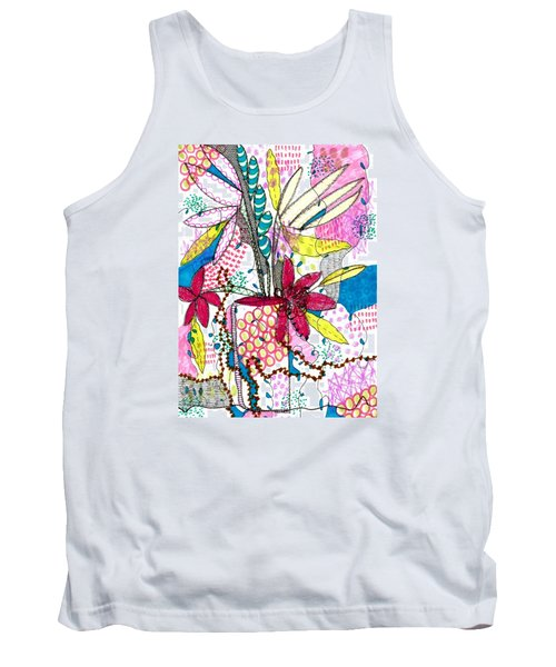 Tank Top featuring the mixed media Where Did You Put My Cup? by Lisa Noneman