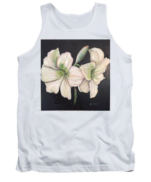White Amaryllis  Tank Top