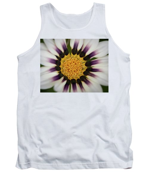 White And Purple Zinnia With Yellow Tank Top