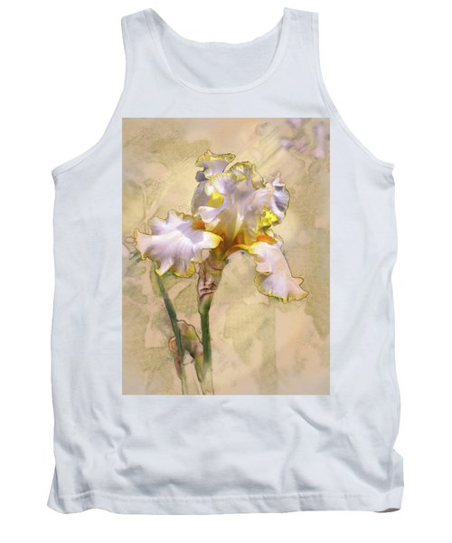 White And Yellow Iris Tank Top