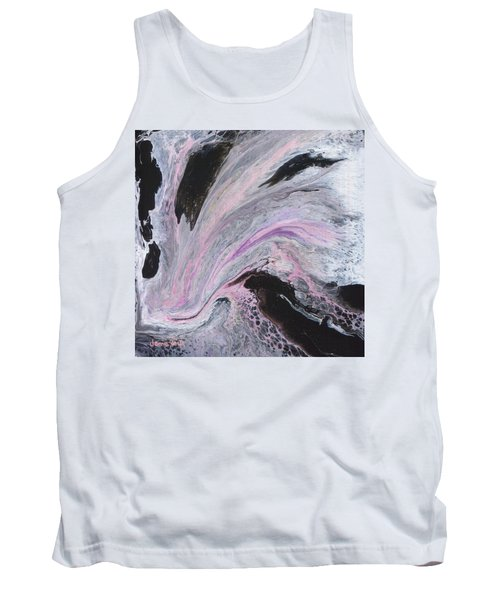 Tank Top featuring the painting White/black/pink by Jamie Frier
