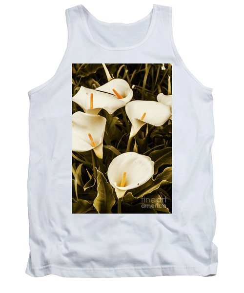 White Calla Lilies Tank Top