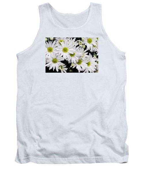 White Chrysanthemums Tank Top