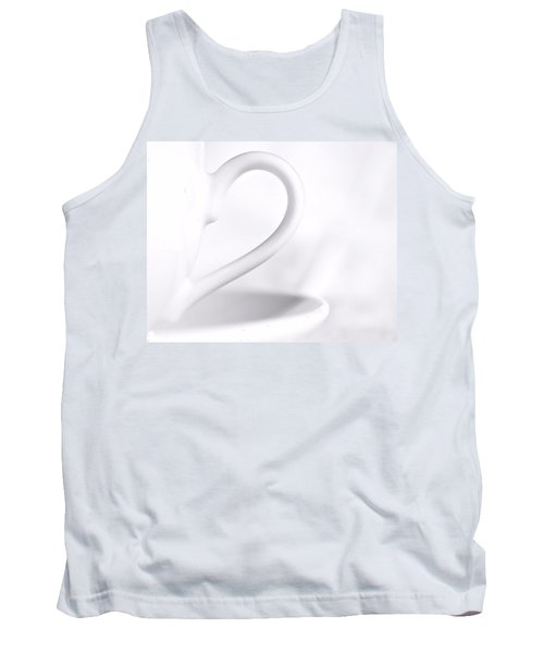 White Cup And Saucer Tank Top