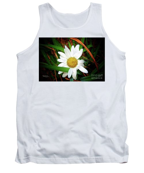 White Daisy Tank Top by Inspirational Photo Creations Audrey Woods