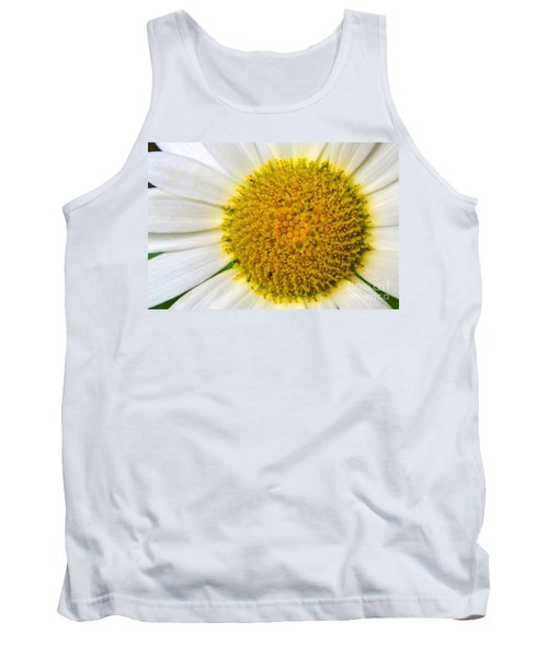 White Daisy Close Up Tank Top