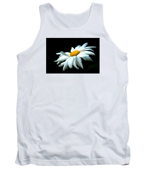 Tank Top featuring the photograph White Daisy Flower In The Wind by Alexander Senin