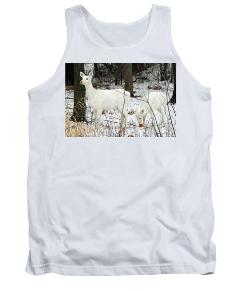 White Deer With Squash 4 Tank Top by Brook Burling