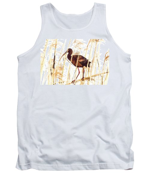 White Faced Ibis In Reeds Tank Top by Robert Frederick