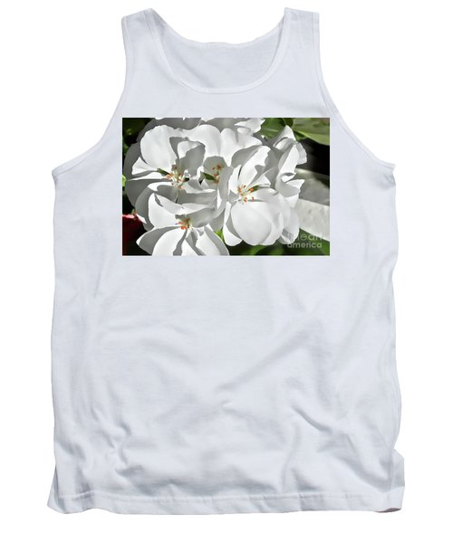 White Geraniums Tank Top