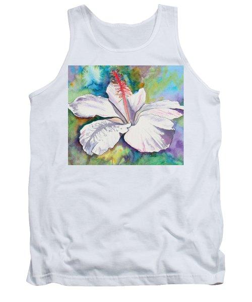 White Hibiscus Waimeae Tank Top