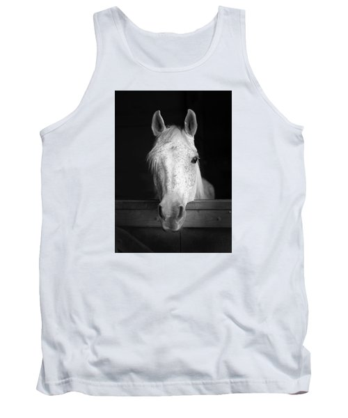 White Horse Tank Top by Marion Johnson