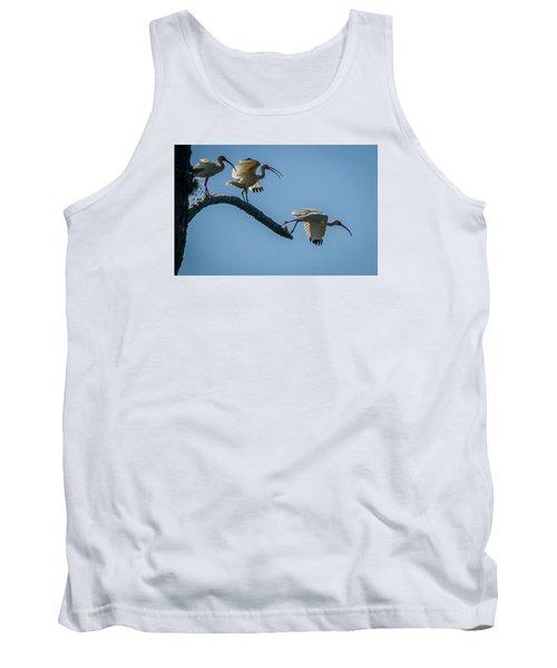 White Ibis Takeoff Tank Top