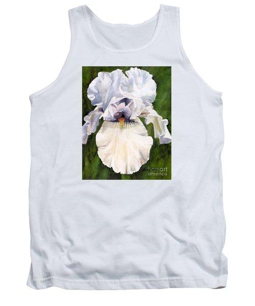 White Iris Tank Top