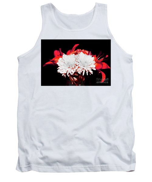White Mums And Red Lilies Tank Top