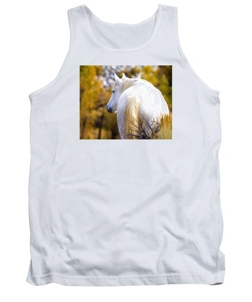 White Mustang Mare Tank Top