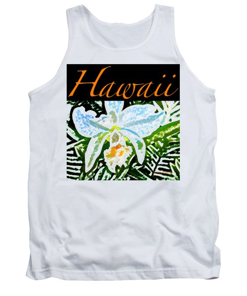 White Orchid T-shirt Tank Top by James Temple