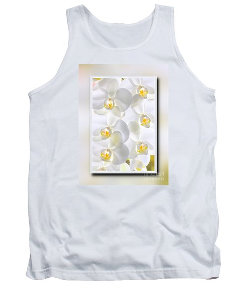White Orchids Framed Tank Top