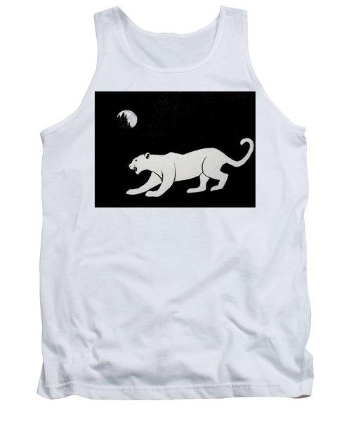 White Panther Tank Top