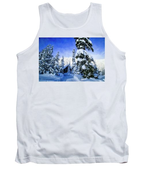 White Pass Chalet Tank Top by Lynn Hopwood