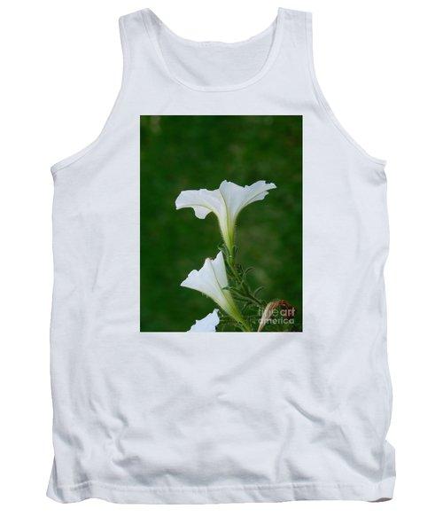 White Petunia Blossoms Tank Top