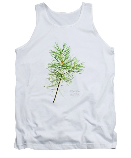 Tank Top featuring the mixed media White Pine by Christina Rollo