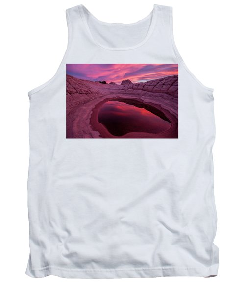 Tank Top featuring the photograph White Pocket Sunset by Wesley Aston