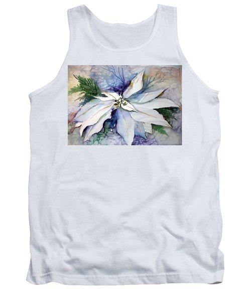 White Poinsettia Tank Top