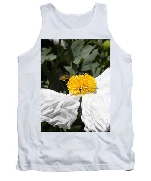 White Poppy Tank Top