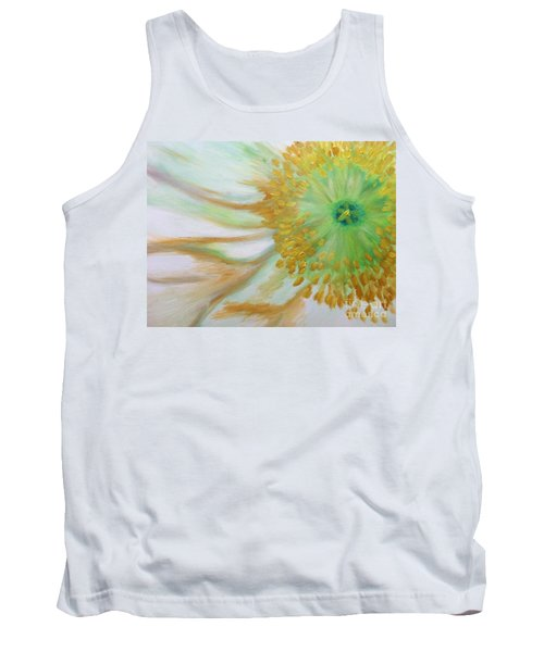 Tank Top featuring the painting White Poppy by Sheron Petrie
