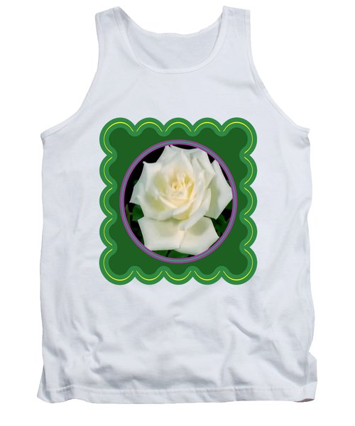 White Rose Flower Floral Posters Photography And Graphic Fusion Art Navinjoshi Fineartamerica Pixels Tank Top by Navin Joshi