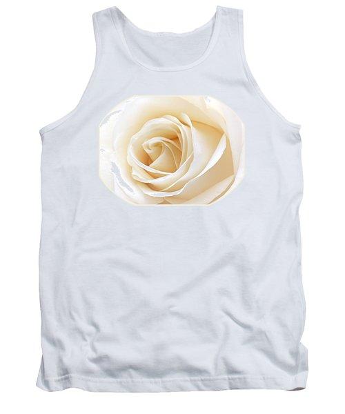 White Rose Heart Tank Top by Gill Billington