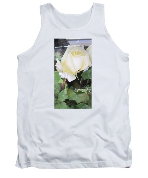 White Rose - Sympathy Card Tank Top