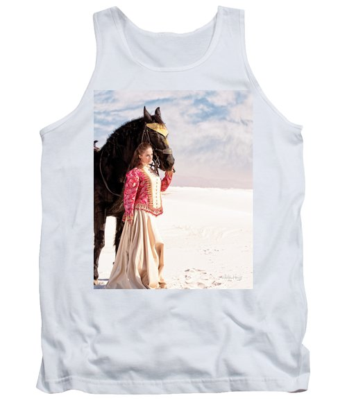 White Sands Horse And Rider #2a Tank Top