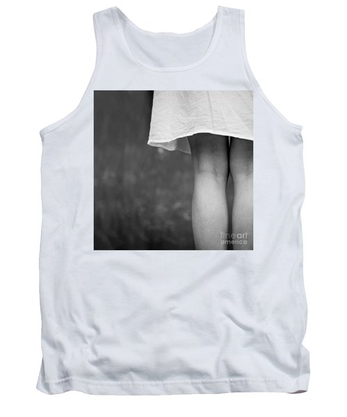White Shirt Tank Top