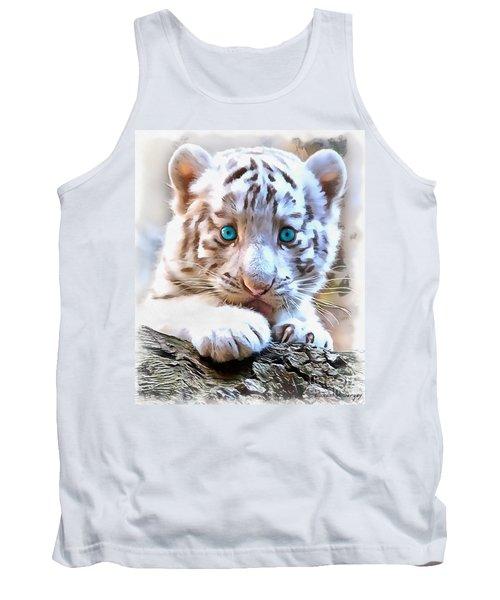 White Tiger Cub Tank Top