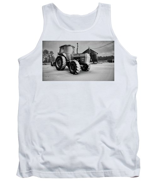 White Tractor Tank Top