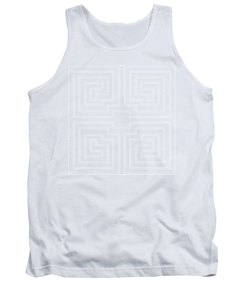 White Transparent Design Tank Top