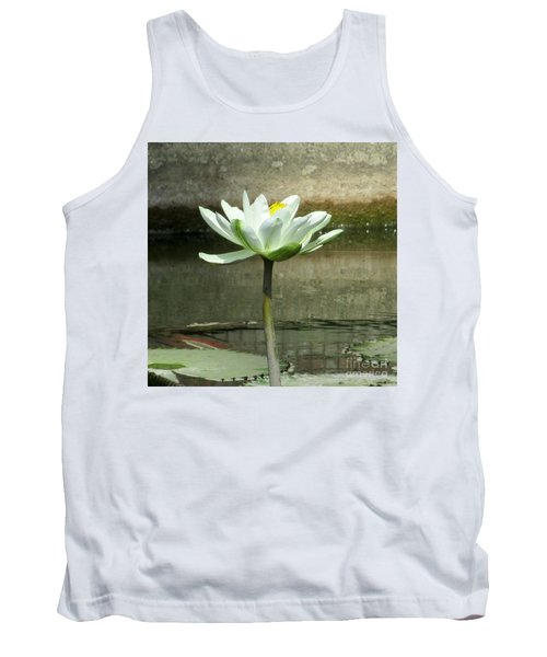 Tank Top featuring the photograph White Water Lily 2 by Randall Weidner