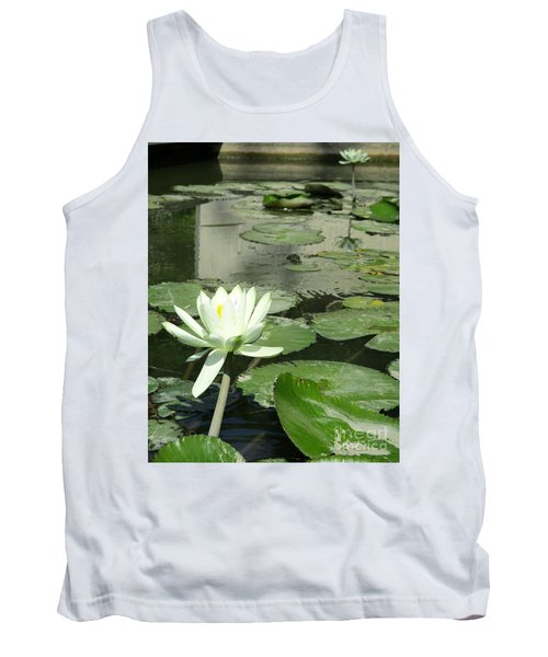 Tank Top featuring the photograph White Water Lily 3 by Randall Weidner