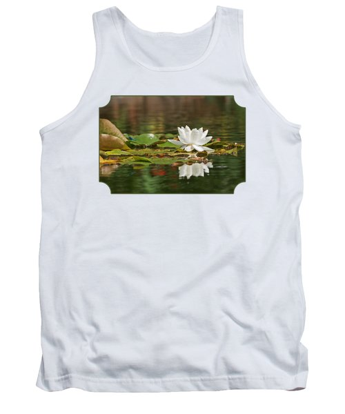 White Water Lily With Damselflies Tank Top