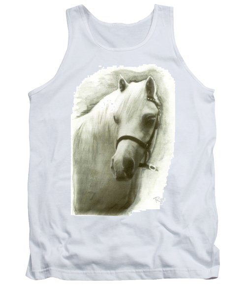 White Welsh Pony Tank Top