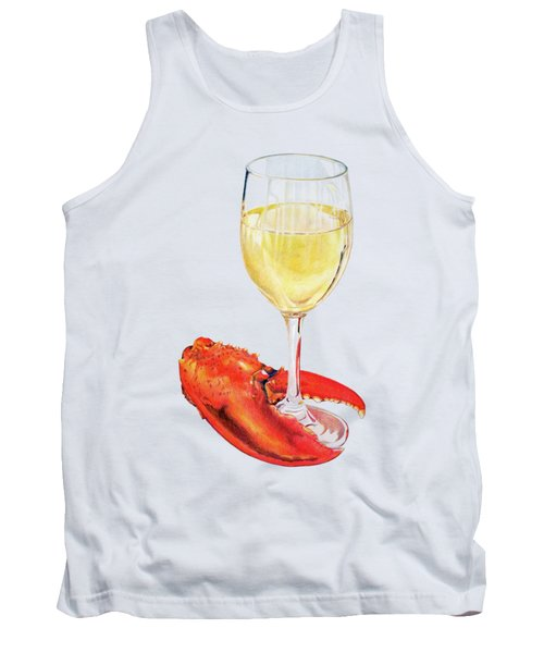 White Wine And Lobster Claw Tank Top