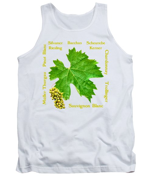 White Wine Lettering Tank Top