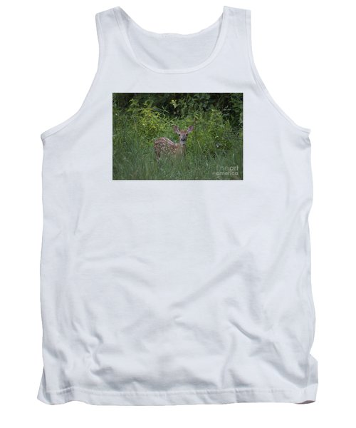 Tank Top featuring the photograph Whitetail Fawn 20120711_37a by Tina Hopkins