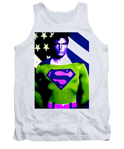 Tank Top featuring the digital art Who Is Superman by Saad Hasnain
