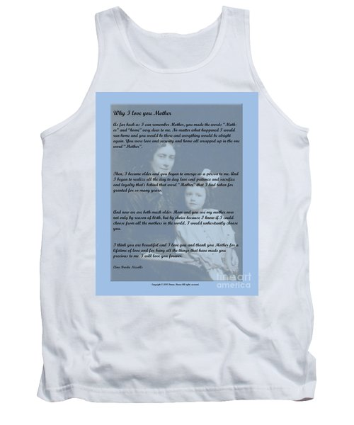 Why I Love You Mother Tank Top